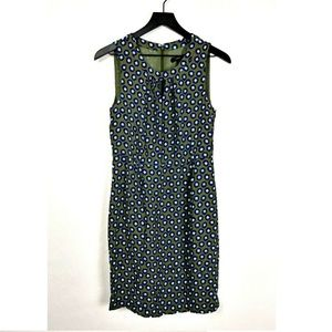 J.Crew Tuscan Keyhole Printed Sheath Dress